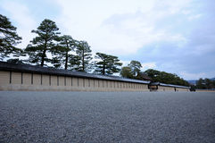 Kyoto Imperial Palace Wall Royalty Free Stock Photography