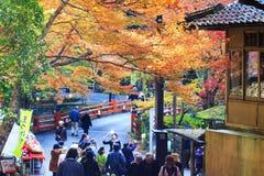 Kyoto, JAPÃO - 16 de novembro de 2013: Um pavilhão no jingo-ji, Japão Jing Foto de Stock