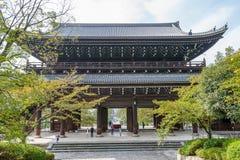 KYOTO, JAPÃO - 9 DE OUTUBRO DE 2015: Chion-no santuário, templo em Higashiyama-ku, Kyoto, Japão Matrizes do santuário de Jodo-shu foto de stock royalty free