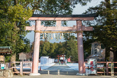 KYOTO, JAPÓN - 12 de enero de 2015: Capilla de Kamigamo-jinja un shri famoso Fotografía de archivo