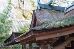 KYOTO, JAPÓN - 11 de enero de 2015: Capilla de Munakata de Kyoto Gyoen Garde Imágenes de archivo libres de regalías