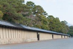 KYOTO, JAPÓN - 11 de enero de 2015: Jardín de Kyoto Gyoen un Histori famoso Imagenes de archivo