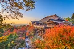 Kyoto, Japón en el templo de Kiyomizu-dera foto de archivo libre de regalías