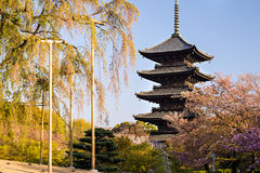 Kyoto, Japón en el templo de Toji Foto de archivo