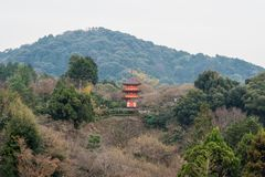 "Kyoto, Japan †""17 December, 2017: Kiyomizu-Dera Boeddhistisch T Royalty-vrije Stock Foto's"