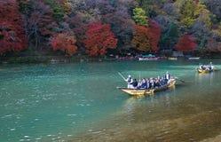 Kyoto Japan Arashiyama. Autumn mountain landscape Stock Image