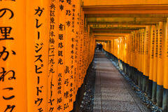 Kyoto, Japan bij het Heiligdom van Fushimi Inari royalty-vrije stock foto's