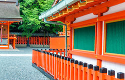 Kyoto, Japan. Buildings at Fushimi Inari Shrine Stock Photos