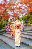 Kyoto, JAPAN-December 2: Beautiful  Young woman wearing a kimono Royalty Free Stock Image