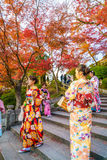 Kyoto, JAPAN-December 2: Beautiful  Young woman wearing a kimono Stock Images