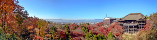 Kyoto, Japan - December 8, 2015: Panorama of Kiyomizu-dera templ Stock Image