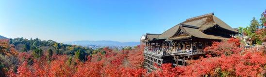 Kyoto, Japan - December 8, 2015: Panorama of Kiyomizu-dera templ Royalty Free Stock Photo