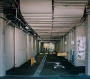 KYOTO, Japan - 15. Dezember 2015: Unbestimmter Weg zum japanischen Öl Lizenzfreie Stockfotos