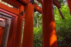kyoto japan 2017 Fushimi Inari Taisha Arkivfoton