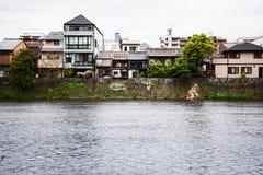 Kyoto-Japan-Goldenweek-2019-River imagem de stock royalty free