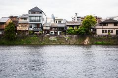 Kyoto-Japan-Goldenweek-2019-River royaltyfri bild