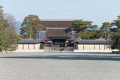 KYOTO, JAPAN - Jan 11 2015: Kyoto Gyoen Garden. a famous historical site in the Ancient city of Kyoto, Japan. stock photos
