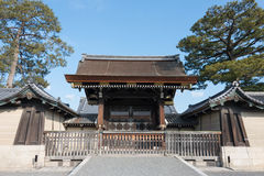 KYOTO, JAPAN - Jan 11 2015: Kyoto Gyoen Garden. a famous historical site in the Ancient city of Kyoto, Japan. royalty free stock photography