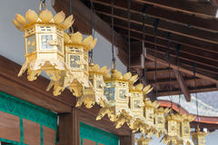 KYOTO, JAPAN - 12. Januar 2015: Kawai-jinjaschrein bei einem Shimogamo-ji Stockbilder