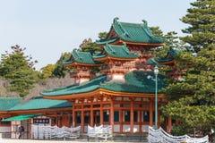 KYOTO, JAPAN - 12 Januari 2015: Heian-Jinguheiligdom een beroemd heiligdom royalty-vrije stock foto's