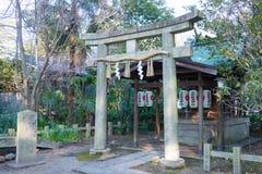 KYOTO JAPAN - Januari 11 2015: Munakata relikskrin av Kyoto Gyoen Garde Royaltyfri Fotografi