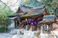 KYOTO JAPAN - Januari 11 2015: Munakata relikskrin av Kyoto Gyoen Garde royaltyfria foton