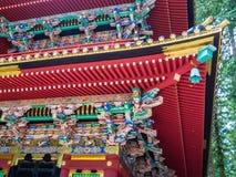 KYOTO, JAPAN - JULI 05, 2017: Sluit omhoog van een mooie en gestileerde japanesse tempel in Kyoto Stock Foto's