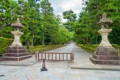 KYOTO, JAPAN - JULY 05, 2017: Beautiful view of the park in Yasaka Pagoda Gion Higashiyama District, Kyoto.  Stock Images