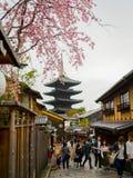 KYOTO, JAPAN - JULY 05, 2017: Beautiful view of Yasaka Pagoda Gion Higashiyama District Kyoto. Japan Stock Photo