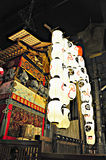 KYOTO, JAPAN - JULY 15, 2011: A portable shrine covered in red a Stock Images
