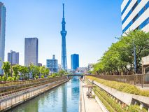 KYOTO, JAPAN - JULY 05, 2017: View of Tokyo Sky Tree 634m, the highest free-standing structure in Japan and 2nd in the Royalty Free Stock Photography
