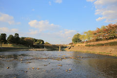 Kyoto, Japan - Kamo River townscape. Also known as Kamo-gawa. Stock Photo