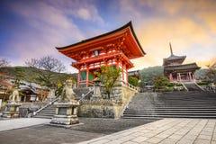 Kyoto Japan Kiyomizu-dera buddistisk tempel Royaltyfri Bild