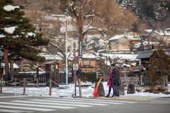 KYOTO JAPAN - MARS 14: Turister går på April 19, 2012 i Kyot Royaltyfria Foton