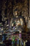 Kyoto, Japan - May 18, 2017:  Golden Buddha in Chion-In Temple K. Kyoto, Japan - May 18, 2017: Golden Buddha in Chion-In Temple Kyoto, Japan Stock Photos
