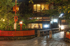 Kyoto japan at night Royalty Free Stock Photography