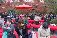 KYOTO, JAPAN - NOV 24: autumn foliage at Eikando Temple on Novem Stock Images