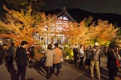 KYOTO, JAPAN - 24 NOV.: de herfstgebladerte bij Eikando-Tempel op Novem Stock Foto's