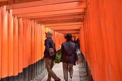 KYOTO, JAPAN - NOV 24: Fushimi Inari Taisha Shrine on November 2 Stock Photos