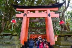 KYOTO, JAPAN - NOV 24: Fushimi Inari Taisha Shrine on November 2 Royalty Free Stock Photo