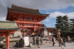KYOTO, JAPAN - NOV 24: Fushimi Inari Taisha Shrine on November  Stock Photos
