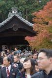 KYOTO, JAPAN - NOV 28, 2015: Many tourists visit the Tofukuji Te Stock Image