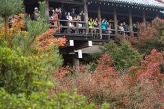 KYOTO, JAPAN - NOV 28, 2015: Many tourists visit the Tofukuji Te Royalty Free Stock Photography
