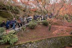 KYOTO, JAPAN - NOV 28, 2015: Many tourists visit the Tofukuji  Stock Photo
