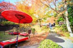 Kyoto, JAPAN - Nov 16, 2013: A pavilion at Jingo-ji, Japan. Jing Royalty Free Stock Photography