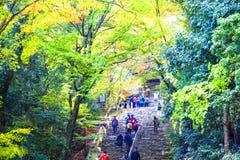 Kyoto, JAPAN - Nov 16, 2013: A pavilion at Jingo-ji, Japan. Jing Royalty Free Stock Images
