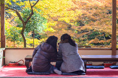 Kyoto, JAPAN - Nov 16, 2013: A pavilion at Jingo-ji, Japan. Jing Stock Image