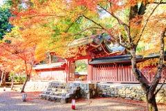 Kyoto, JAPAN - Nov 16, 2013: A pavilion at Jingo-ji, Japan. Jing Royalty Free Stock Photos