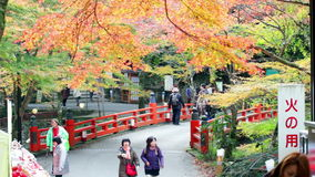 Kyoto, JAPAN - Nov 16, 2013: A pavilion at Jingo-ji, Japan. Jing. O-ji, Japan is one of the closest natural recreation areas to Kyoto, offering beautiful scenery stock video footage