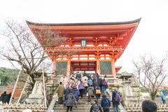 KYOTO, JAPAN - Nov 24, 2016 : Tourist at Kiyomizu-dera Temple in. Kyoto Japan. Kiyomizu-dera is an independent Buddhist temple in eastern Kyoto. Is part of the Royalty Free Stock Photos